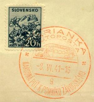 af63bcf2e9 Prvou príležitostnou poštovou pečiatkou v Marianke